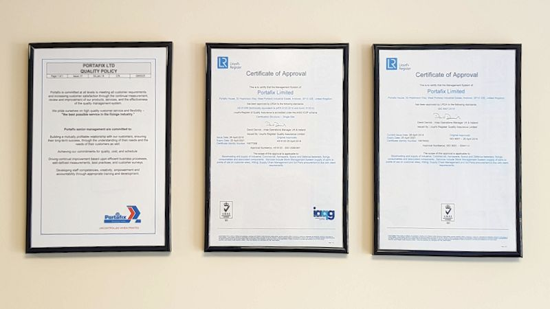 Image of Portafix certificates