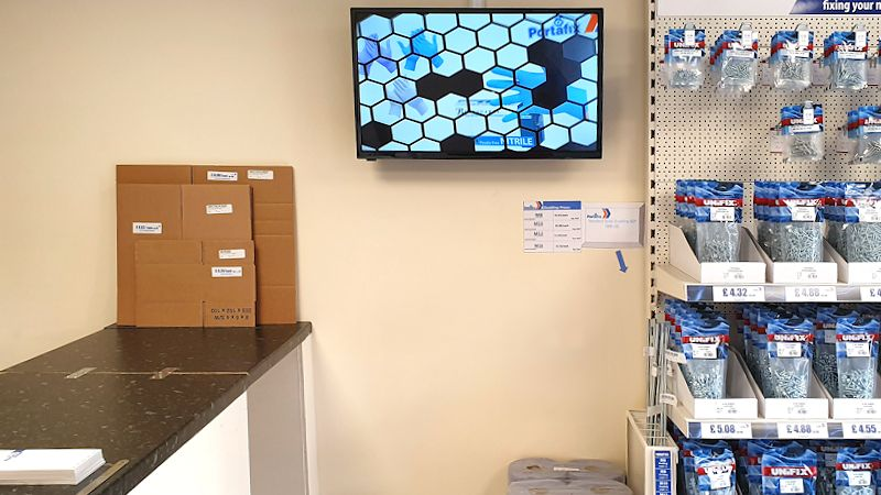 image of Portafix Andover Trade Counter with TV