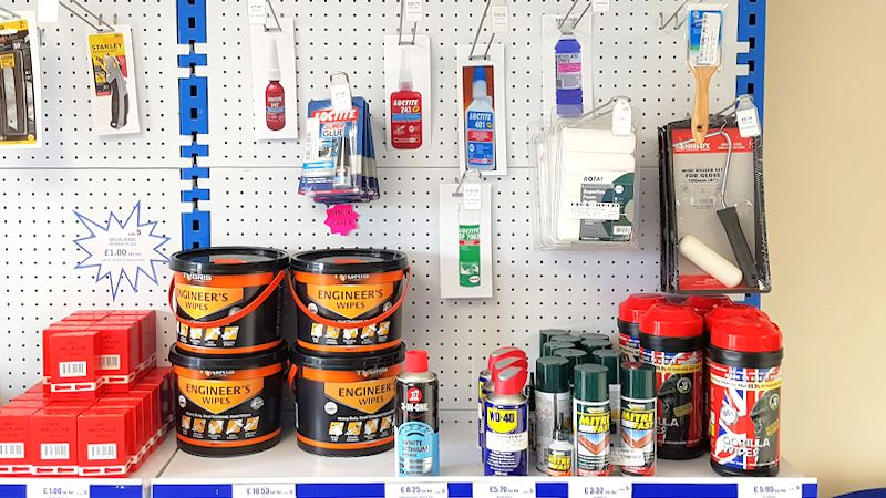 image of Portafix Andover Trade Counter stocked shelves